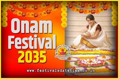 2035 Onam Festival Date and Time, 2035 Thiruvonam, 2035 Onam Festival Calendar