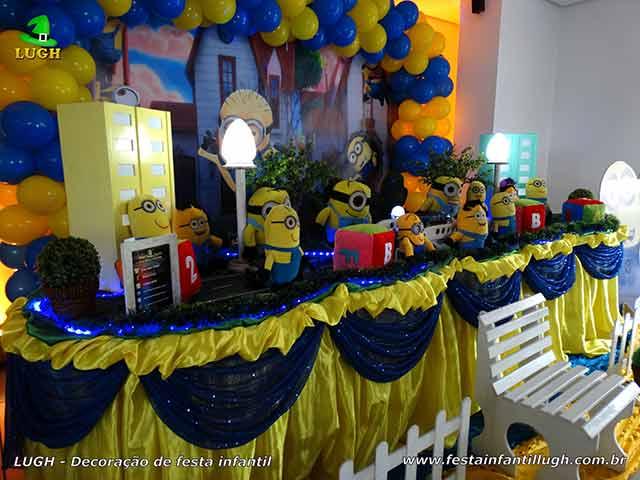 Ornamentação de mesa de aniversário Minions