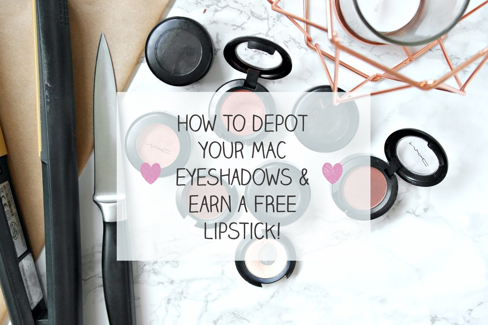 how to depot MAC eyeshadows, MAC, Back to MAC, how to guide