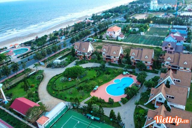 Toàn cảnh khu Lotus resort Vũng Tàu