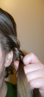 Braiding the front side hair.