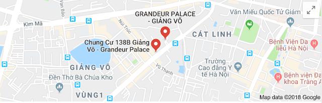 Vị trí dự án Grandeur Palace tại địa chỉ 138B Giảng Võ