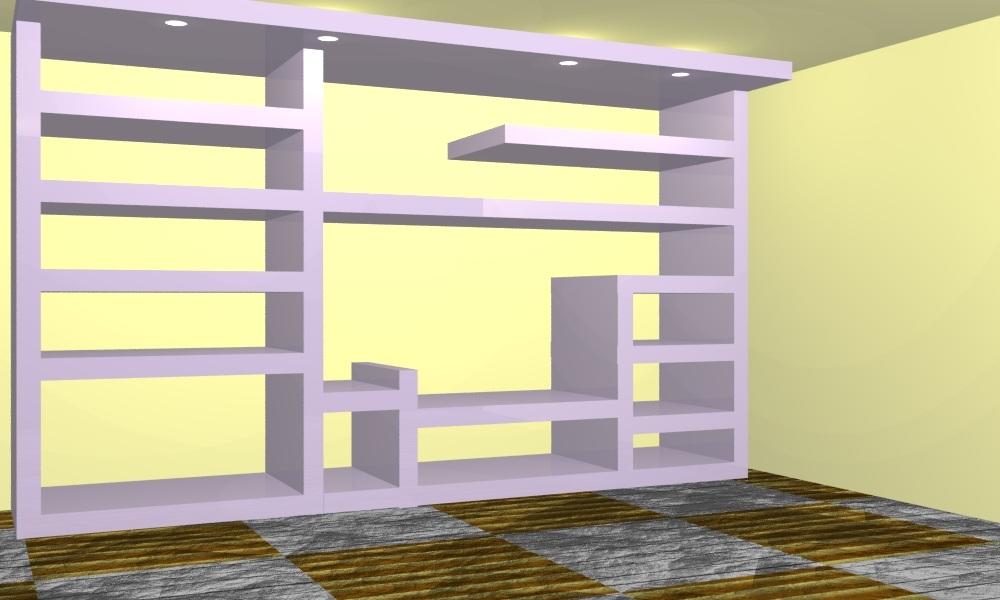 Cominodecori libreria in cartongesso a milano e torino for Mobili librerie torino