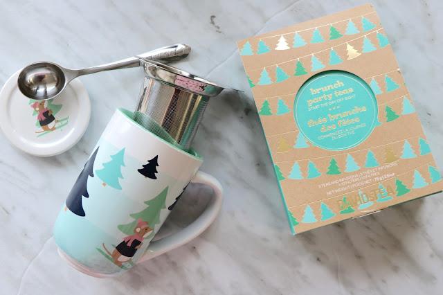 davids tea holiday 2016 ski mouse nordic mug brunch tea set