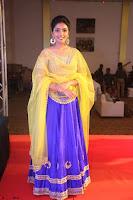 Actress Eesha in Yellow Choli Blue Ghagra at Darshakudu music launch 052.JPG