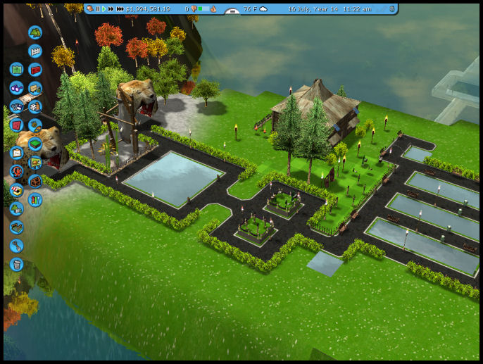 Roller Coaster Tycoon 3 Downloads: RCT3 Plateau Lake Park Scenario