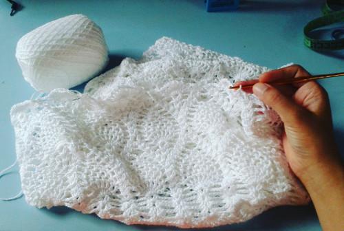 Croche vestido branco réveillon