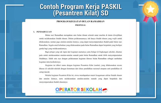 Contoh Program Kerja PASKIL (Pesantren Kilat) SD