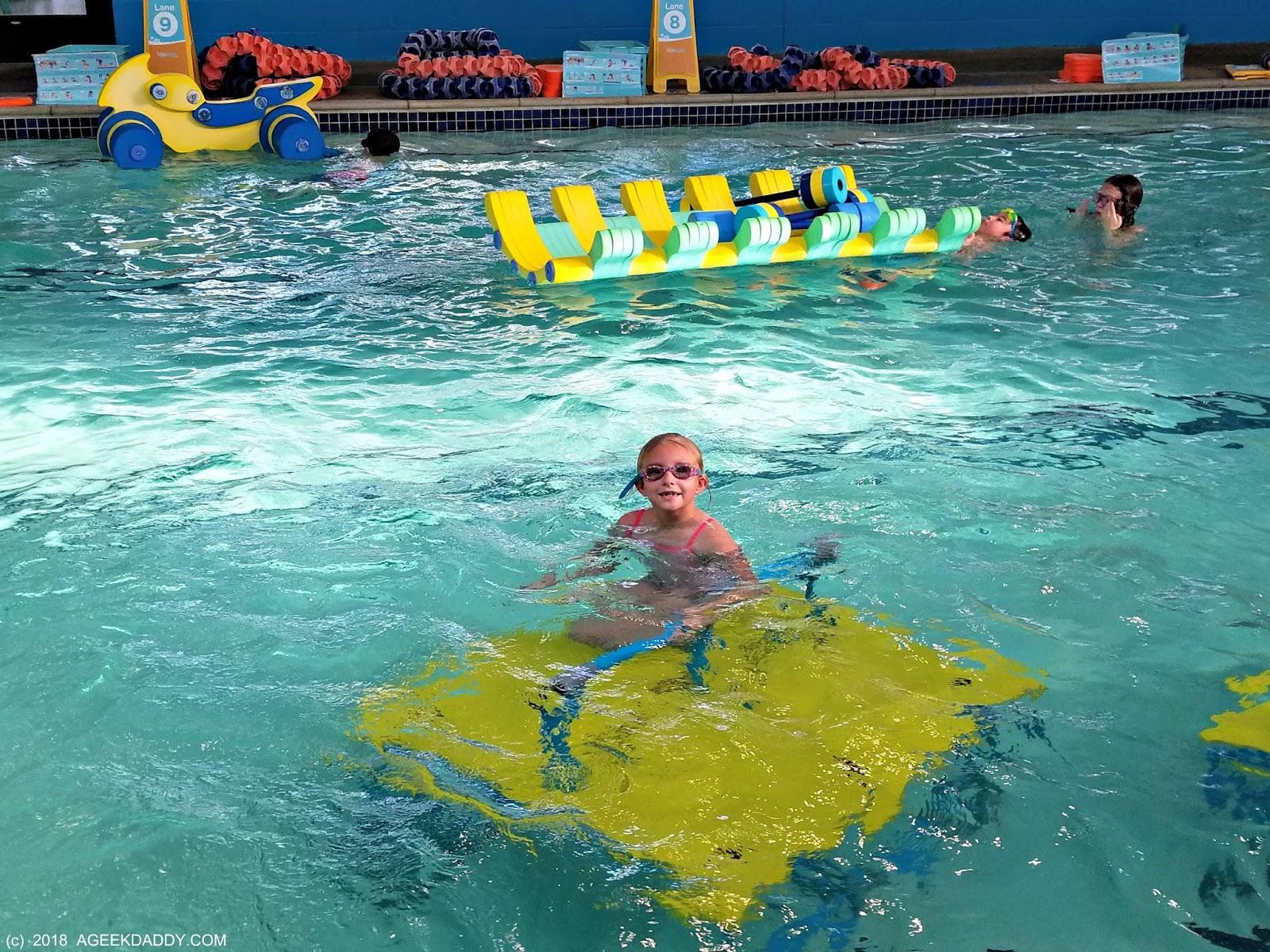 A Geek Daddy Snow Day At Goldfish Swim School