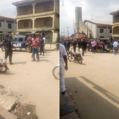 Serious Drama As Man Uses Broken Bottle to Pluck Out Another Man's Eyes Over a Woman in Lagos