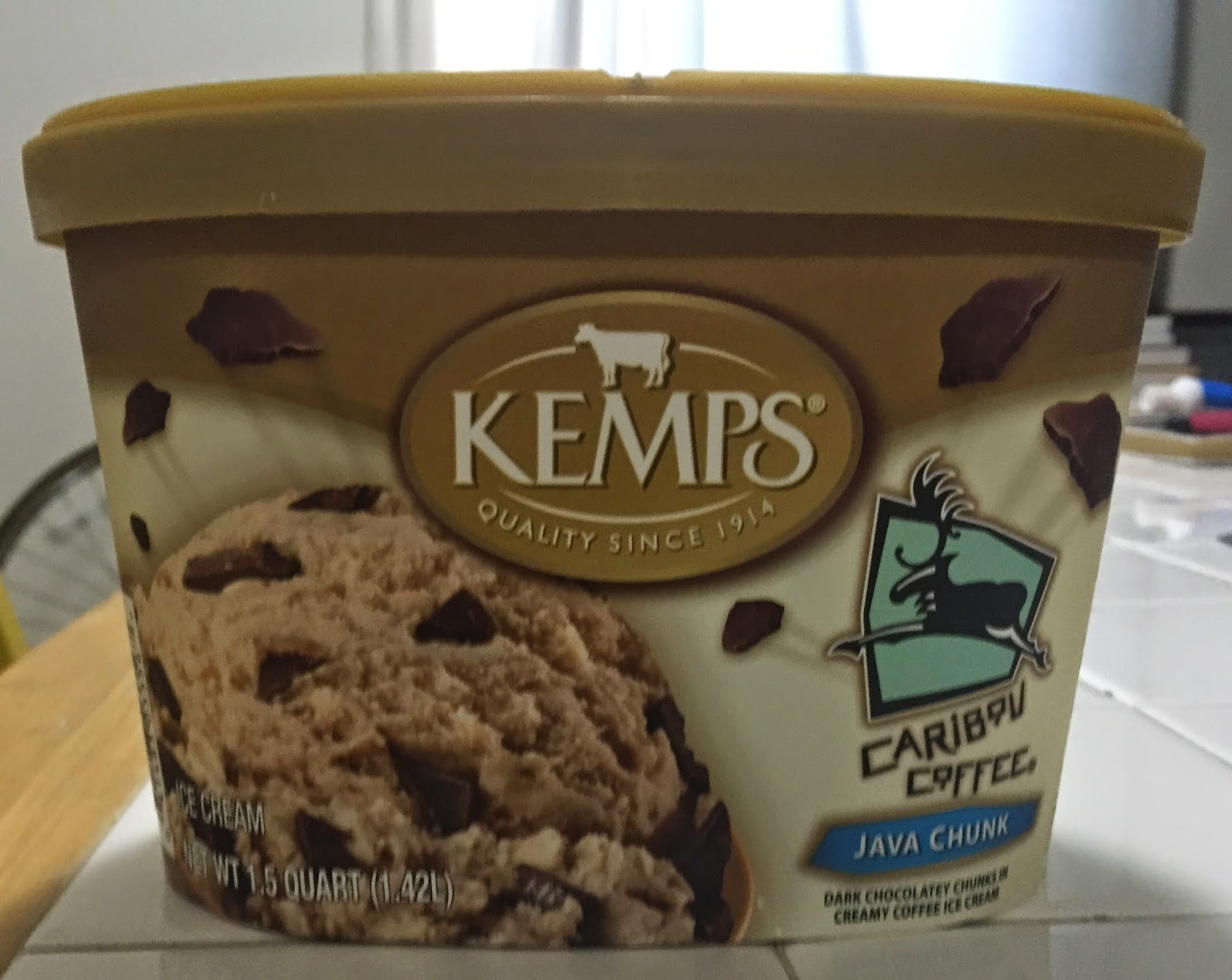 Kemps Caribou Coffee Java Chunk Ice Cream