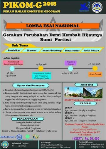 Lomba Esai Nasional UNP Untuk Mahasiswa