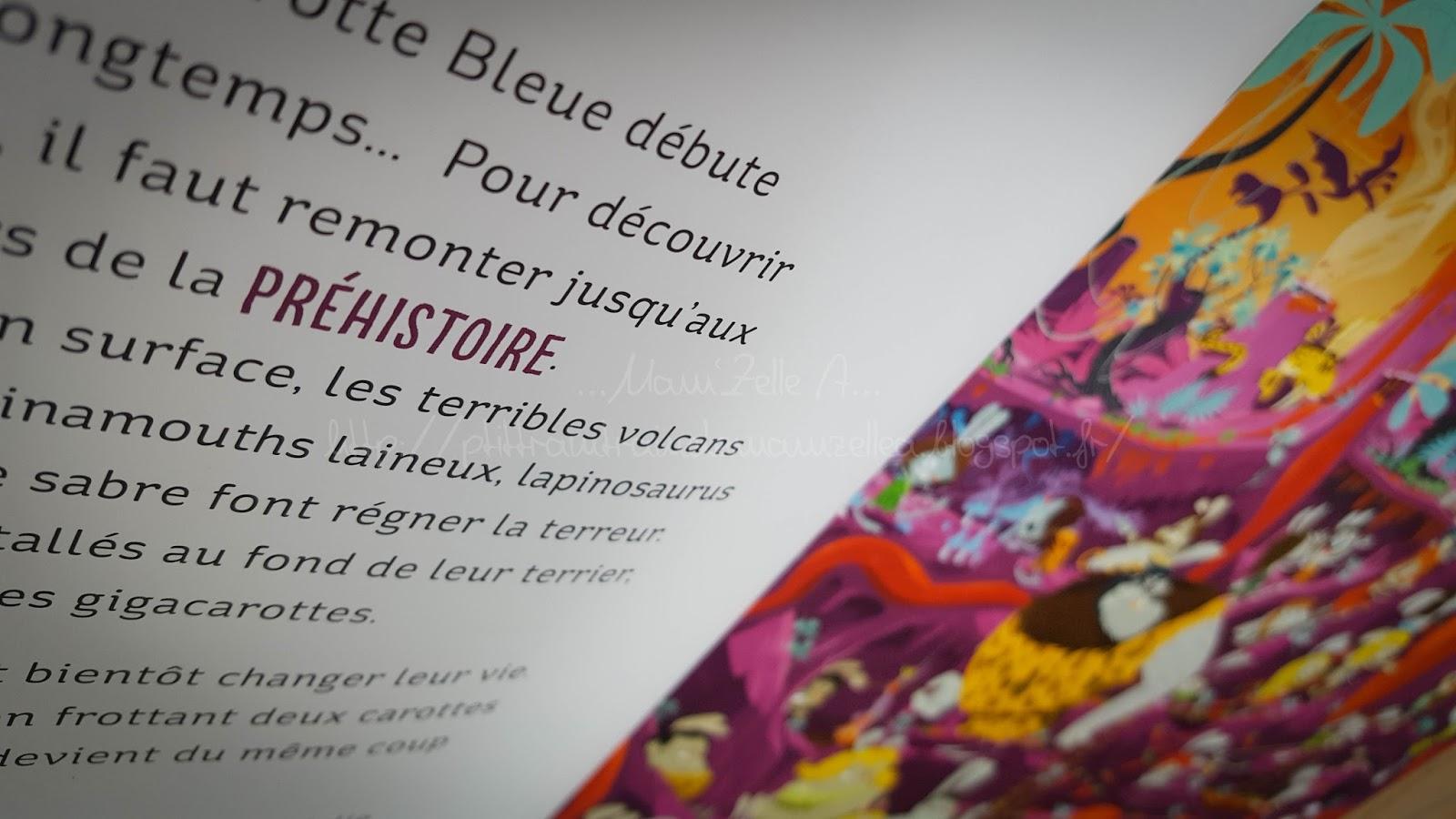 """Carotte Bleue intérieur le p'tit train-train de mam'zelle a"""": dans la biblio il y a {a la"""