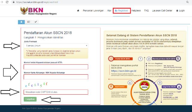 Langkah melamar CPNS secara online