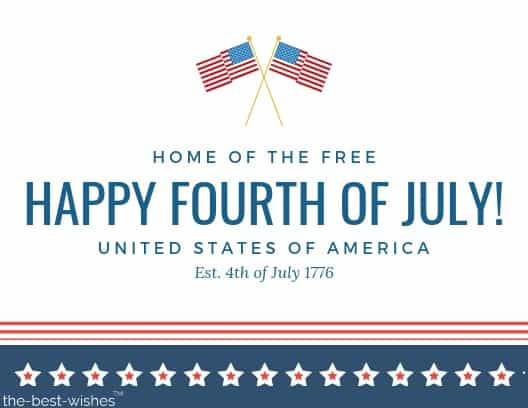 card fourth of july