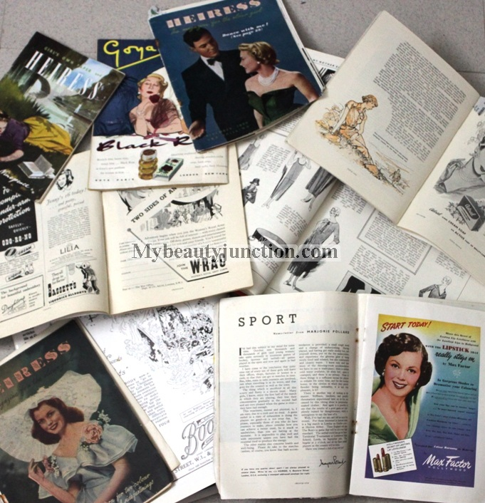 Vintage makeup and skin care advertisements from magazines