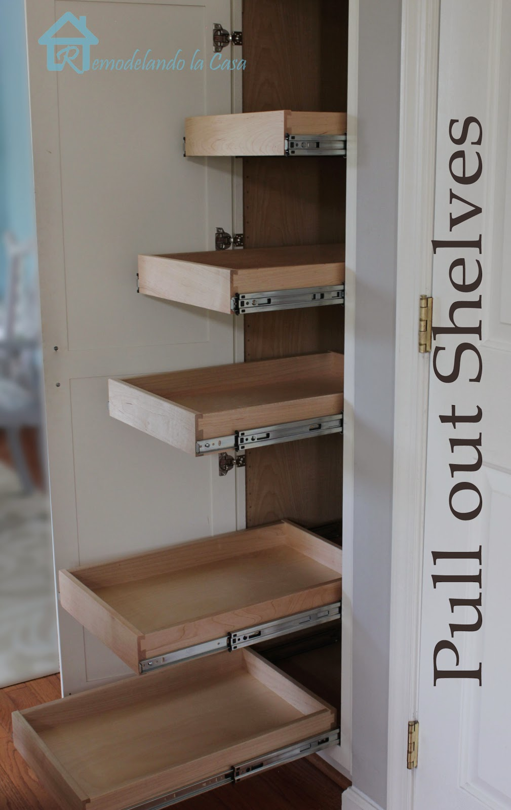 Kitchen Organization - Pull Out Shelves in Pantry ...