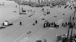 1945 when German snipers shot at people celebrating the end of the war