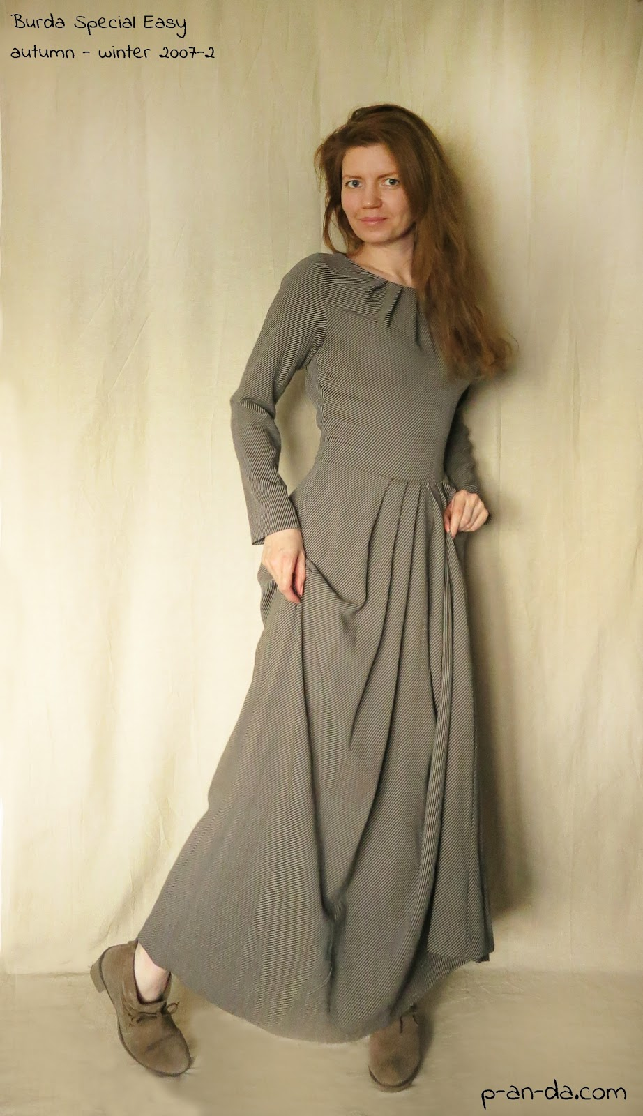 Длинные платья с выкройками бурда