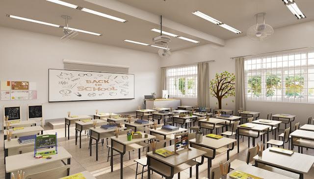 Daikin VRV là hệ thống điều hòa trung tâm trong các lớp học tại Nhật Bản