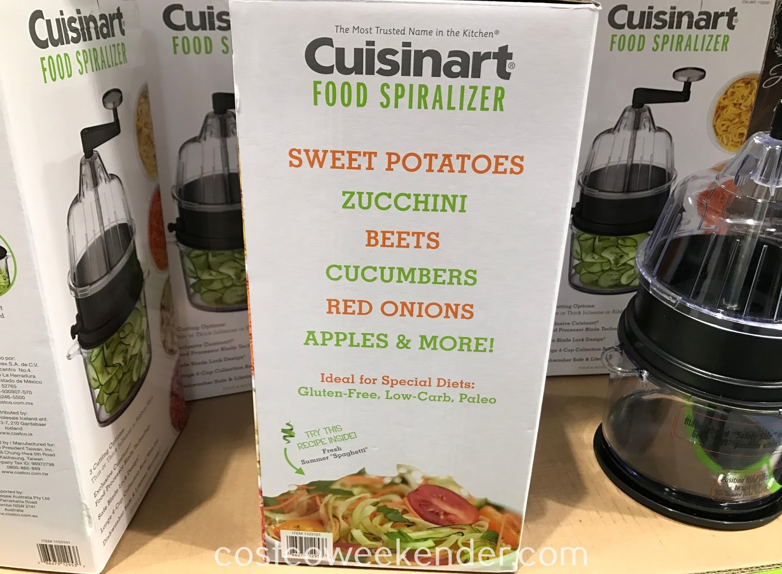 Ensure your kitchen has the right tools with the Cuisinart Food Spiralizer