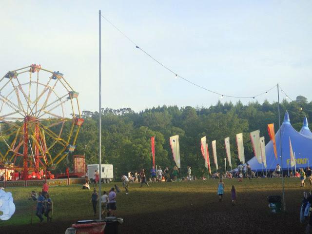 festival fairground music tent far out