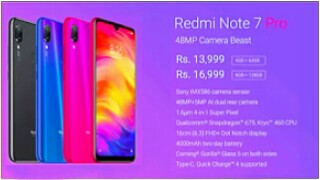 Xiaomii Redmi Note 7 Pro Price in India, Full Specs (14th March 2019