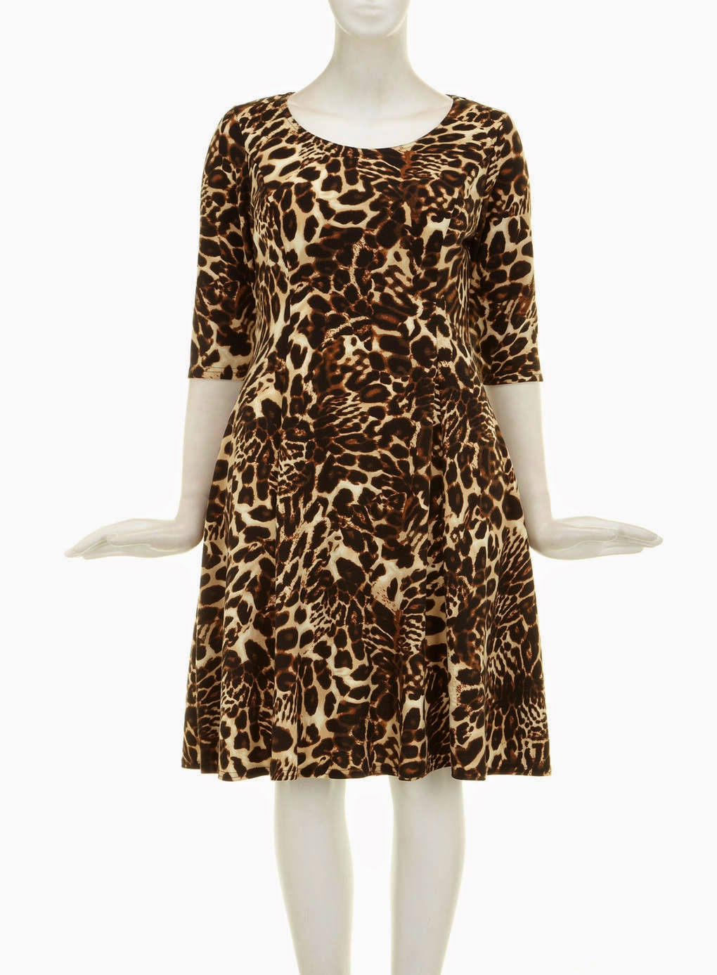9636ca1749d Evans Scarlett   Jo Animal Print Fit and Flare Dress 14 - Curvy Wordy