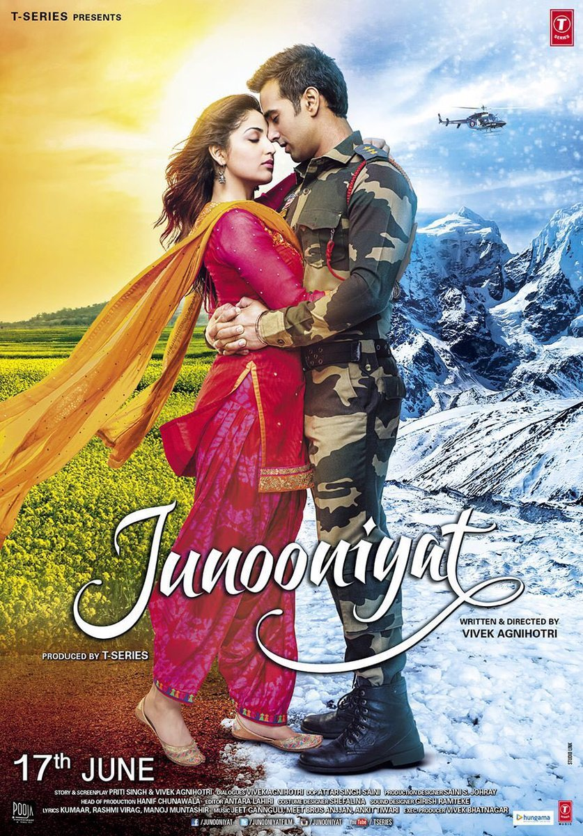 Yami Gautam, Pulkit Samrat New Upcoming movie Junooniyat full star cast latest movie poster release date 2016