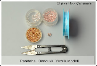 Boncuk ve Kristal Taşlarla Yüzük Modeli Yapımı, Resimli Açıklamalı 1