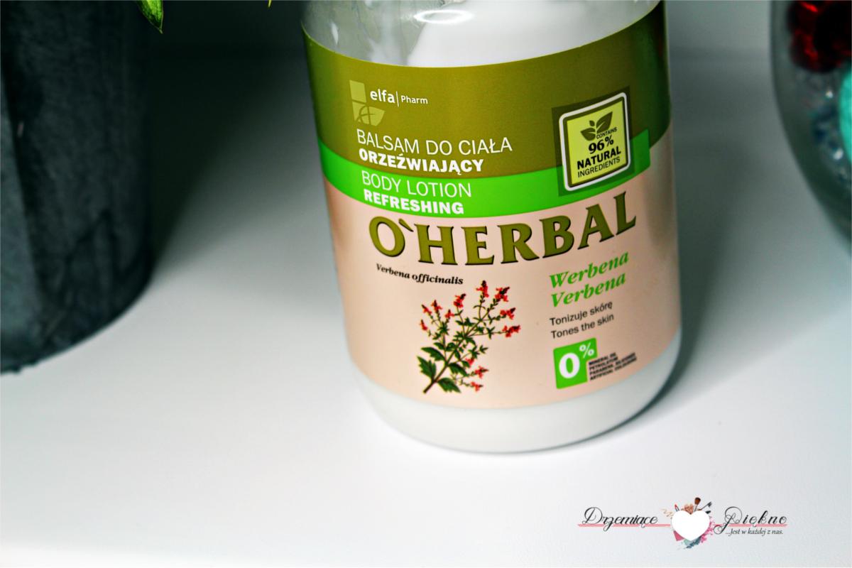 Elfa Pharm, O'Herbal, balsam do ciała orzeźwiający z ekstraktem z werbeny.