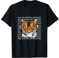 Give Me Freedom 3d Tiger T-shirt for Men Women