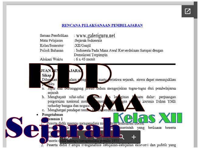 New RPP Sejarah Kelas XII BAB 1 Kurikulum 2013 Revisi 2018_Galeri Guru