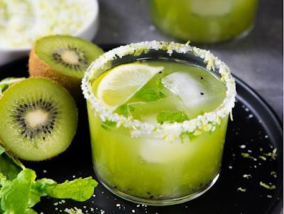 Mint Kiwi Margarita #healthydrink #easyrecipe