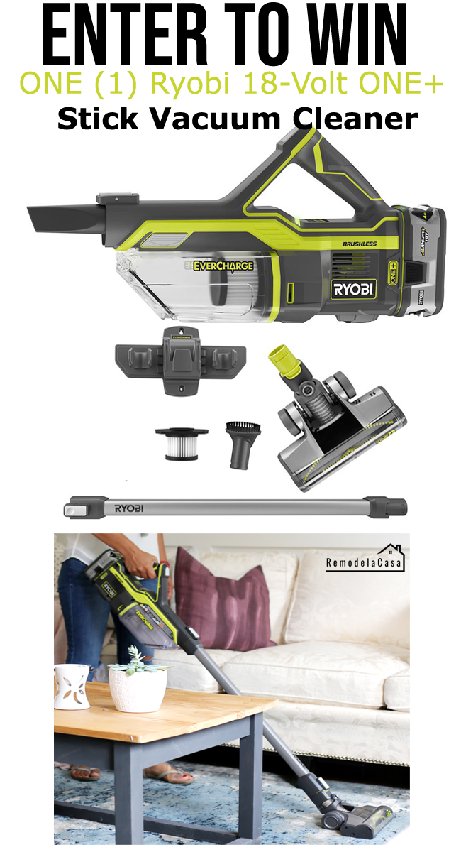 Enter to win a Ryobi vacuum cleaner