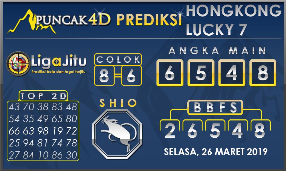 PREDIKSI TOGEL HONGKONG LUCKY7 PUNCAK4D 26 MARET 2019