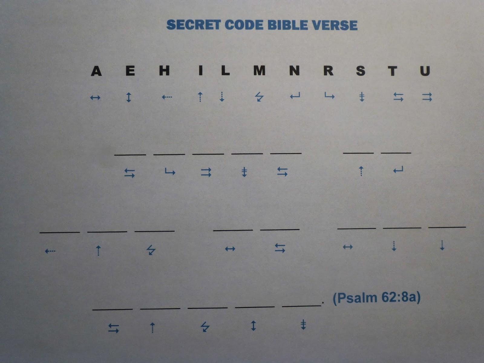Ideas Unlimited Printable Secret Code Bible Verse Psalm 62 8a