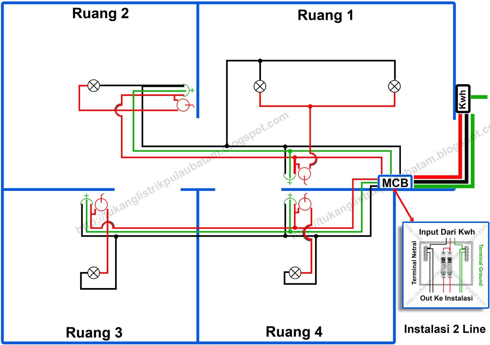 3 jenis tipe rangkaian instalasi listrik rumah tukang listrik batam gambar instalasi listrik rumah 2 line ccuart Gallery