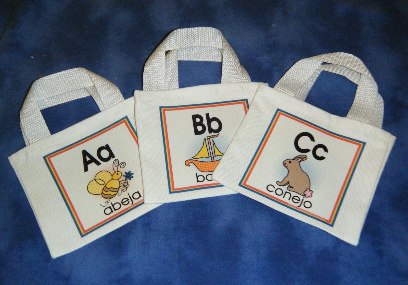 Teaching Spanish Beginning Sounds Alphabet Letter Bags