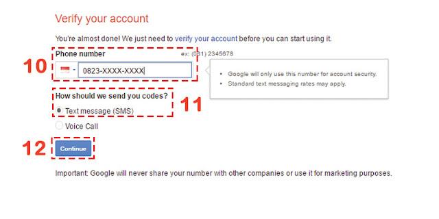 Verifikasi Kode Akun Gmail Baru