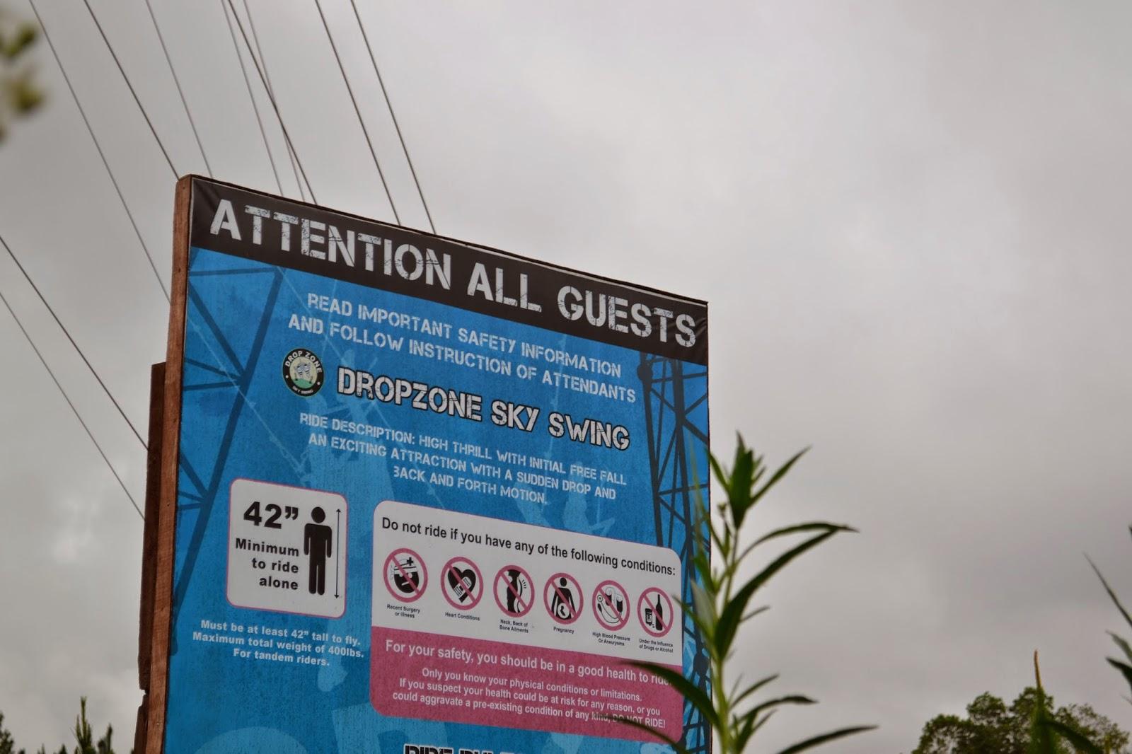 Drop Zone at Dahilayan Adventure Park