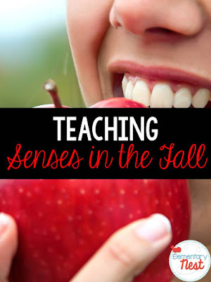 Fall Science- activities to help integrate science into your fall teaching- Fall senses