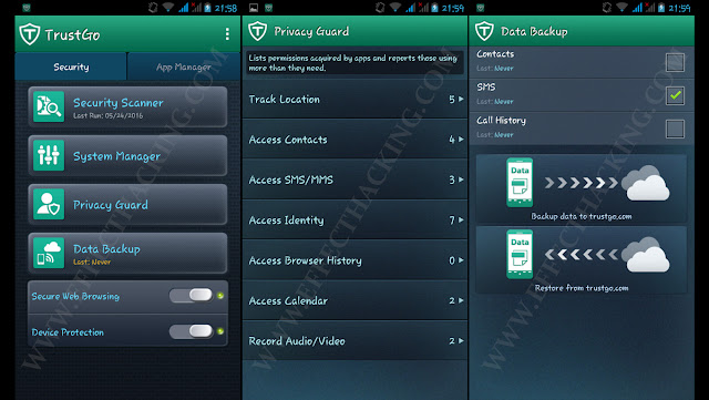 TrustGo Antivirus & Mobile Security Screenshots