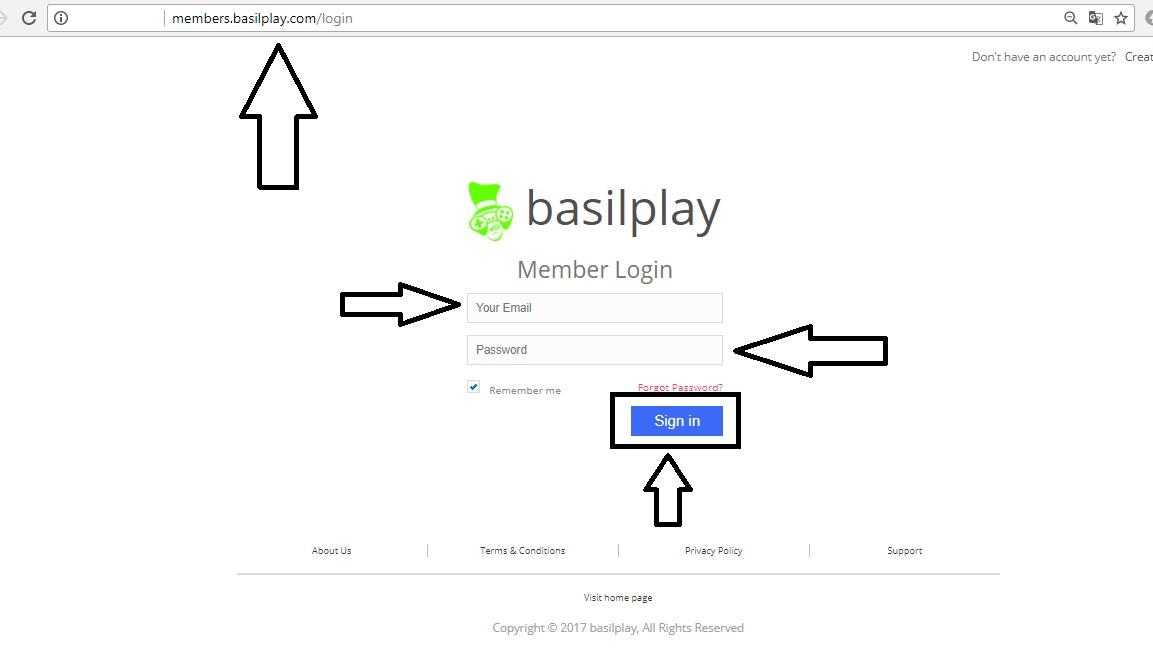 basilplay com member login sign up