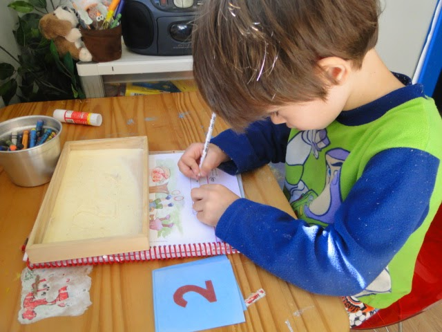 montessori writing