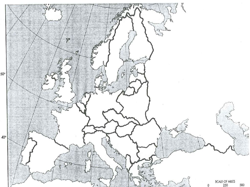 blank map of europe before ww1