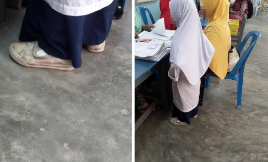 """Viral Anak Berpakaian Lusuh Ke Sekolah: """"Saya Tak Mampu Beli Kelengkapan Sekolah Anak"""" – Ibu"""