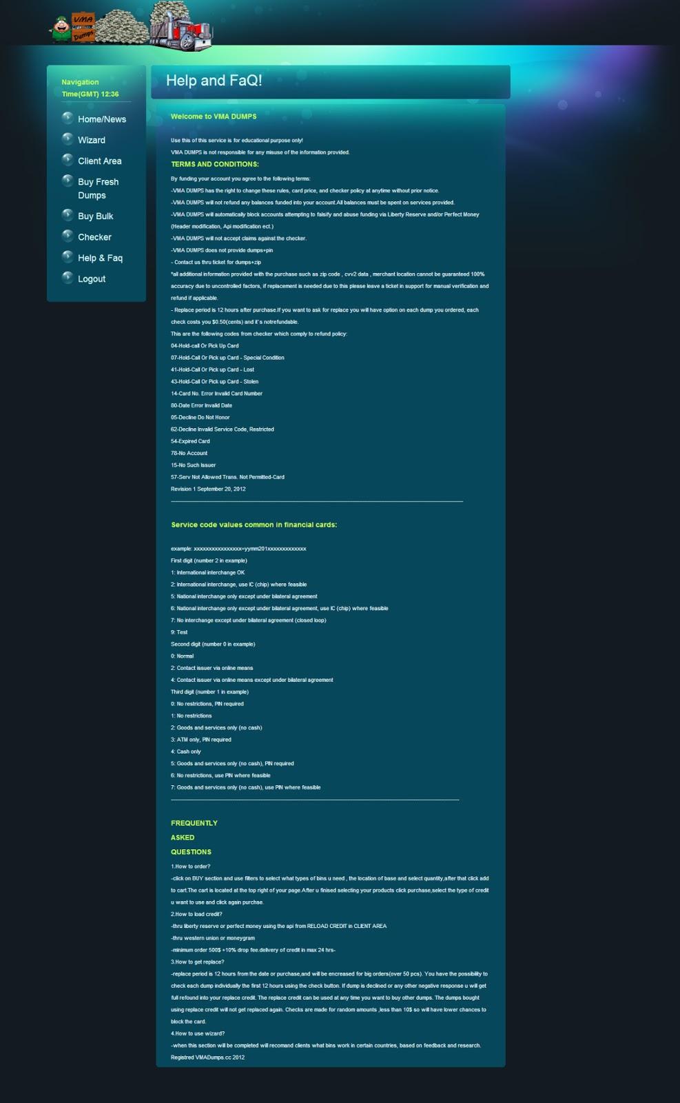 XyliBox: VMADUMPS (Carding shop)