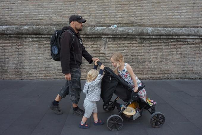 Kokemuksia Roomasta lasten kanssa - liikkuminen matkarattailla