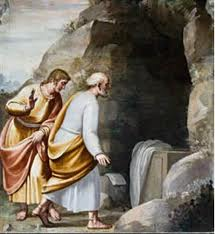 Resultado de imagen para Echa a correr y llega a Simón Pedro y al otro discípulo